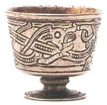 Viking jelling dragon   The Danish Jelling Cup Artifact 7th Cent. AD.