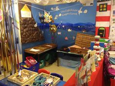 The Lighthouse Keeper's lunch Role play area Seaside Theme, Sea Theme, School Displays, Classroom Displays, Lighthouse Keepers Lunch, Reception Class, Role Play Areas, Dramatic Play Centers, Holidays Around The World