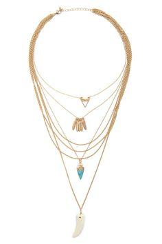 Layered Pendant Necklace - ON THE FRINGE - 1000177052 - Forever 21 EU English