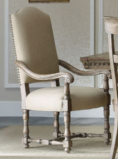 Sorella Upholstered Dining Arm Chair by Hooker Furniture - Home Gallery Stores