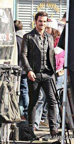 Colin O'Donoghue on set - March 3, 2015