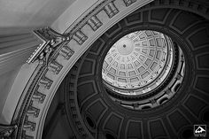 Looking Up at Colorado State Capitol - Denver, CO
