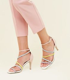 56def8a4c0 Nude Suedette Frill Back Stiletto Heel Sandals   New Look   Stiletto ...