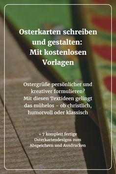 """Keine Sorge: Wer Osterkarten """"von der Stange"""" langweilig findet - auch Ostergrüße lassen sich mit eigenen Textideen netter und origineller gestalten."""