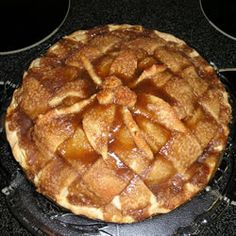 BEST APPLE PIE RECIPE. I am forced to make this at every holiday. Just dont cook the caramel sauce for too long. and add spices (cinnamon, nutmeg, cloves) for that traditional flavor. SERIOUSLY, MAKE IT!