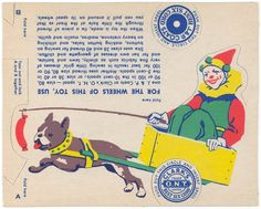 1932 PAPER DOLL CIRCUS SPOOL BOSTON DOG TRADE CARD | eBay