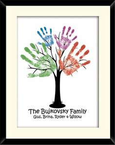 Family reunion tree quilts | family handprint tree by Mandi