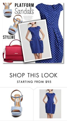 """""""Stand Up! Platform Sandals"""" by svijetlana ❤ liked on Polyvore featuring Steve Madden and platforms"""