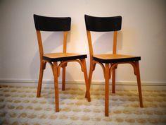 Paire de chaises de bistrot vintage, baumann
