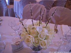 déco table florale mariage mariage hiver, blanc mille et une organisations de prestige