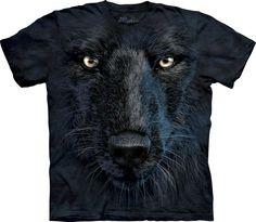 Black Wolf Face T-Shirt