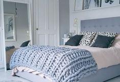 DIY kötött ágytakaró