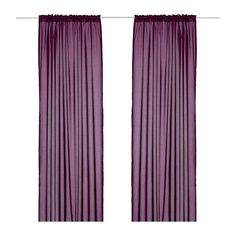 VIVAN Pair Of Curtains IKEA Thin Curtain Defuses Light Softly Perfect For Use In A