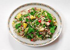 vegetable and basmati salad.
