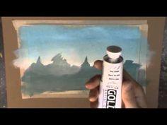 Acrylic Painting Tutorial - Mist and Fog - YouTube
