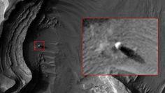 objeto esférico anômalo em Marte