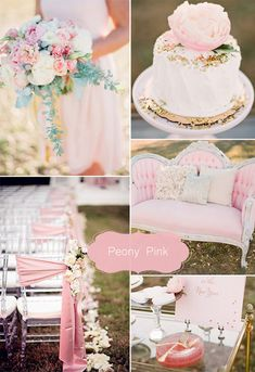 2015 spring may wedding colors peony pink