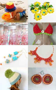 Summer Fun Colors! by Jaime K on Etsy--Pinned with TreasuryPin.com