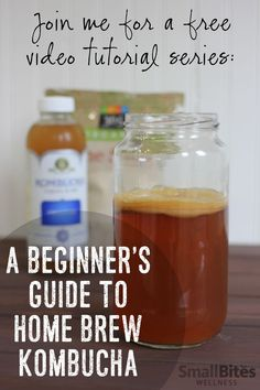 A Beginner's Guide to Home Brew Kombucha Tired of costly store-bought kombucha? Join me for a FREE video tutorial series and learn how to home brew kombucha. Tea Recipes, Raw Food Recipes, Kefir Recipes, Recipies, Kambucha Recipe, Make Your Own Kombucha, Making Kombucha, Probiotic Drinks, Detox Drinks