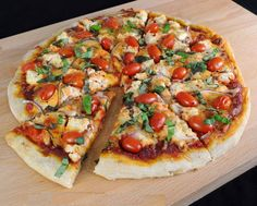 PIZZA WITH RICOTTA, GRAPE TOMATOES, RED ONION, AND FRESH BASIL @ https://www.facebook.com/photo.php?fbid=573000666077839=a.363073483737226.90496.196401850404391=1
