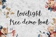 DLOLLEYS HELP: Lovelight Free Demo Font