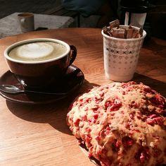 Mokxa matcha latte and Lyon's praluline