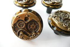 Steampunk Watch Movement Cabinet Knobs  by FivePointsMercantile, $10.00