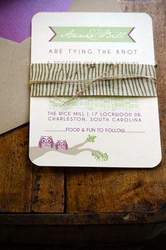 @Sarah E Reed of @dodelinedesign precious OWL invitations