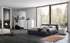 modern gray bedroom - Buscar con Google