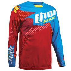 Thor 2016 A1 LE Core Hux Red/Cyan Jersey