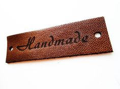 Personalized leather labels custom label tags genuine