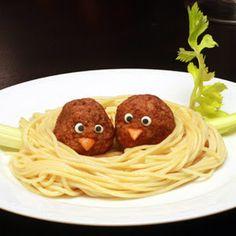 Indicaciones para Hacer Nidos con Espaguetis y Albóndigas. | Oh My Comida de Fiesta!