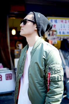 Alpha industries, MA-1 bomber jacket, Supreme, goodwear white Tee