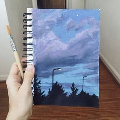 Easy Canvas Art, Cute Canvas Paintings, Small Canvas Art, Mini Canvas Art, Aesthetic Painting, Aesthetic Art, Gouache Painting, Painting & Drawing, Art Drawings Sketches