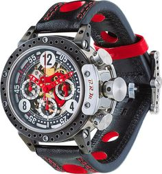 B.R.M. Watch DDF12-44-SQ-AR #add-content #bezel-fixed #bracelet-strap-leather #brand-b-r-m-watches #case-material-titanium #case-width-44mm #chronograph-yes #delivery-timescale-1-2-weeks #dial-colour-black #gender-mens #luxury #movement-automatic #new-pro