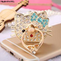 d62827d06 Mwihphms 360 Degree Hello Kitty diamonds Finger Ring Mobile Phone Stand  Holder For all Smart Phone. Diamond RingsDiamond JewelryIphone ...