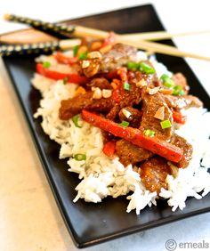 Superfast Dinner with a yummy Asian Twist: Peanutty Beef Stir-Fry