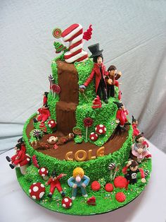 All sizes | Charlie & The Chocolate Factory Cake, via Flickr.