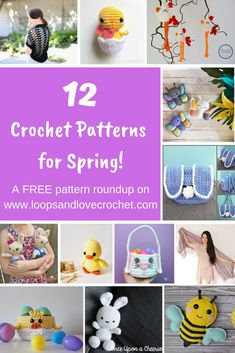 Get SPRING-spired with this roundup of fun and free spring and Easter themed crochet patterns! With all of these super cute options, I hope you will find something that inspires you! Free crochet pattern roundup by Loops and Love Crochet. Holiday Crochet, Easter Crochet, Love Crochet, Crochet Yarn, Crocheted Toys, Crochet Designs, Crochet Patterns, Buzz Lightyear Costume, Crochet Chicken