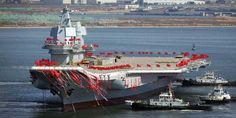 New nuclear aircraft carriers and state-of-the-art carrier-borne fighter jets will join China's revamped navy by local military experts say. It's part of an ambitious push to modernize and overtake the US in the Pacific. New Aircraft, Military Aircraft, Joining The Navy, People's Liberation Army, Naval, Dalian, Us Military, Military Force, Army & Navy