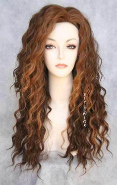 i like the color (Human Hair Blend Curly Red Brown Wig) Love Hair, Gorgeous Hair, Spiral Curls, Loose Spiral Perm, Permed Hairstyles, Hairdos, My Hairstyle, Mode Inspiration, Hair Today