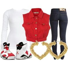 Swag+Outfits+for+Girls Pretty girl swag Outfit l camp jeans Cute Swag Outfits, Dope Outfits, Outfits For Teens, Girl Outfits, Casual Outfits, Fashion Outfits, School Outfits, Outfits With Jordans, Dope Fashion
