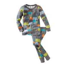 If your girl loves cars and trucks, you'll definitely want to raid the boys department at Tea Collection for these PJs.  We love these colors!  Sizes 6mo - 12y.