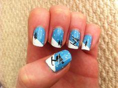 Skiing nail art-YES!