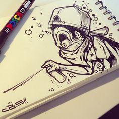 (notitle) – drawing – – Graffiti World Graffiti Tattoo, Graffiti Lettering Fonts, Graffiti Drawing, Graffiti Alphabet, Street Art Graffiti, Art Sketches, Art Drawings, Graffiti Tagging, Graffiti Characters