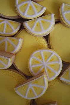 lemons...this links to Loren Ebert's blog (cookies), no recipe, unless it's hidden in there somewhere, but some KO photos of some of her decorated cookies, really nice!
