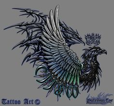 Tattoo Eagle commission inspired on the British Army Air Corps, by PutridusCor