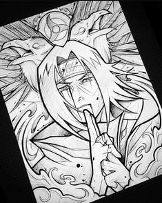 Naruto Sketch Drawing, Anime Drawing Styles, Naruto Drawings, Anime Character Drawing, Anime Drawings Sketches, Anime Sketch, Otaku Anime, Anime Naruto, Naruto Shippuden Anime