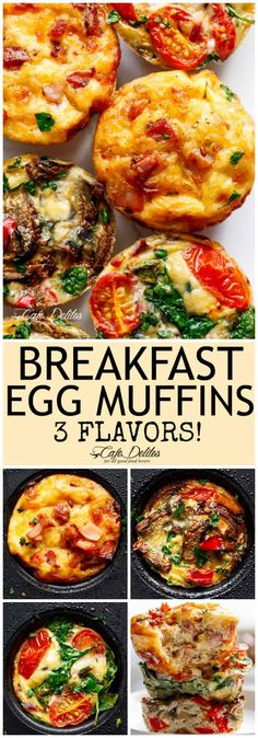 Breakfast Egg Muffins 3 Ways (Meal Prep)You can find Egg muffins breakfast and more on our website.Breakfast Egg Muffins 3 Ways (Meal Prep) Brunch Recipes, Breakfast Recipes, Breakfast Egg Muffins, Paleo Egg Muffins, Mini Egg Muffins, Healthy Egg Breakfast, Healthy Egg Muffin Cups, Meal Prep For Breakfast, Omlet Muffins