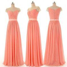 Long Chiffon Real Made Custom Made Bridesmaid Dresses,Sweetheart dress